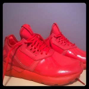 Adidas originals Tubular Runner in triple red.